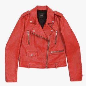 LTH JKT Dre Beltless Red Biker Leather Jacket